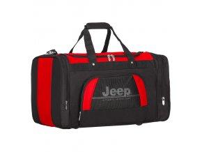 Cestovní taška JEEP 762 Deluxe - černá/červená