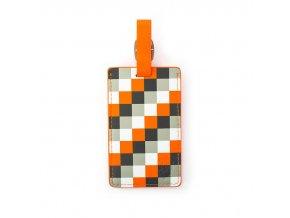 Heys Luggage Tag Orange Check