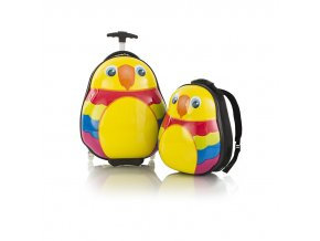 Heys Travel Tots Lightweight Kids Parrot – sada batohu a kufru  + Pouzdro zdarma