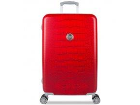 Cestovní kufr SUITSUIT® TR-1239/3-M - Red Diamond Crocodile  + PowerBanka nebo pouzdro zdarma