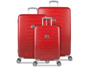 Sada cestovních kufrů SUITSUIT® TR-1239/3 - Red Diamond Crocodile  + PowerBanka nebo pouzdro zdarma