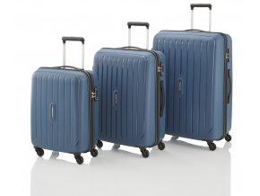 Travelite Uptown 4w S,M,L Navy – sada 3 kufrů  + PowerBanka nebo pouzdro zdarma