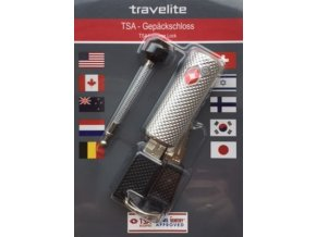 Travelite TSA lock with cable pin Silver