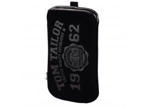 TOM TAILOR Soft Pouch pouzdro na mobil, velikost XL, černé