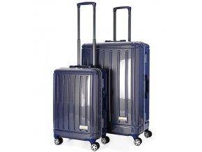 Sada cestovních kufrů AEROLITE T-095/2 AL/PC - modrá  + PowerBanka nebo pouzdro zdarma
