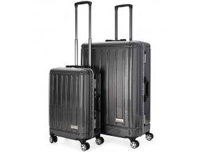 Sada cestovních kufrů AEROLITE T-095/2 AL/PC - černá  + PowerBanka nebo pouzdro zdarma