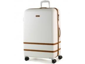 Cestovní kufr ROCK TR-0152/3-L ABS - bílá  + PowerBanka nebo pouzdro zdarma