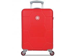 Kabinové zavazadlo SUITSUIT® TR-1243/3-S ABS Caretta Fiery Red  + Pouzdro zdarma