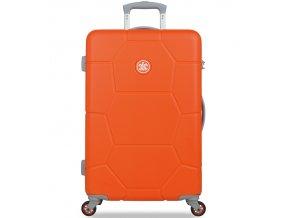 Cestovní kufr SUITSUIT® TR-1245/3-M ABS Caretta Popsicle Orange  + PowerBanka nebo pouzdro zdarma