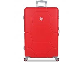 Cestovní kufr SUITSUIT® TR-1243/3-L ABS Caretta Fiery Red  + PowerBanka nebo pouzdro zdarma