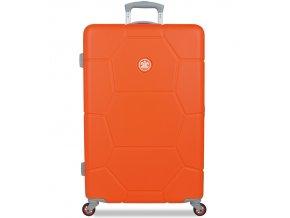 Cestovní kufr SUITSUIT® TR-1245/3-L ABS Caretta Popsicle Orange  + PowerBanka nebo pouzdro zdarma