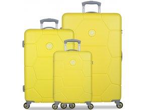Sada cestovních kufrů SUITSUIT® TR-1242/3 ABS Caretta Blazing Yellow  + PowerBanka nebo pouzdro zdarma