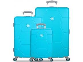 Sada cestovních kufrů SUITSUIT® TR-1244/3 ABS Caretta Ocean Blue