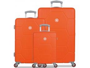 Sada cestovních kufrů SUITSUIT® TR-1245/3 ABS Caretta Popsicle Orange  + PowerBanka nebo pouzdro zdarma