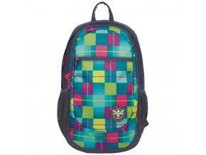 Chiemsee Techpack two backpack Karo blue cabaret  + Pouzdro zdarma