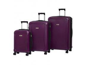 Sada cestovních kufrů ROCK TR-0158/3 DUR - fialová
