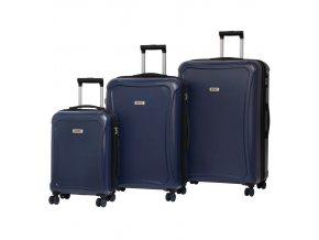Sada cestovních kufrů ROCK TR-0158/3 DUR - tmavě modrá