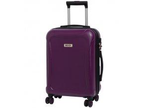 Kabinové zavazadlo ROCK TR-0158/3-S DUR - fialová  + PowerBanka nebo pouzdro zdarma