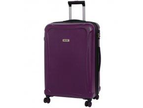 Cestovní kufr ROCK TR-0158/3-L DUR - fialová  + PowerBanka nebo pouzdro zdarma