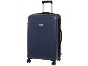 Cestovní kufr ROCK TR-0158/3-L DUR - tmavě modrá  + PowerBanka nebo pouzdro zdarma