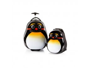 Heys Travel Tots Lightweight Kids Emperor Penguin – sada batohu a kufru  + Pouzdro zdarma