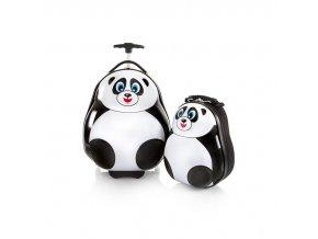 Heys Travel Tots Lightweight Kids Panda – sada batohu a kufru  + Pouzdro zdarma