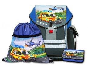 Školní aktovkový set ERGO ONE Záchranáři 3-díl  + Pouzdro zdarma