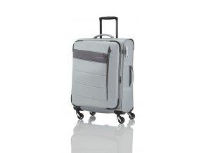 Travelite Kite 4w S,M,L Silver – sada 3 kufrů + BB