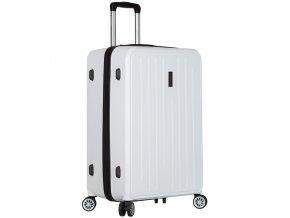 Cestovní kufr SIROCCO T-1141/3-L ABS - bílá  + PowerBanka nebo pouzdro zdarma