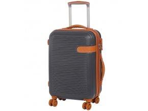 Kabinové zavazadlo ROCK TR-0159/3-S ABS - charcoal  + PowerBanka nebo pouzdro zdarma