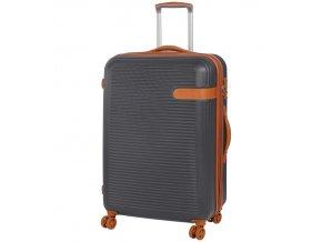 Cestovní kufr ROCK TR-0159/3-L ABS - charcoal  + PowerBanka nebo pouzdro zdarma