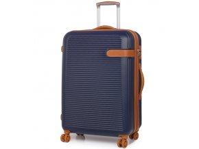 Cestovní kufr ROCK TR-0159/3-L ABS - modrá  + PowerBanka nebo pouzdro zdarma