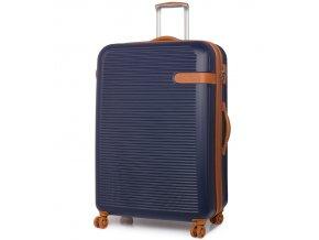 Cestovní kufr ROCK TR-0159/3-XL ABS - modrá  + PowerBanka nebo pouzdro zdarma