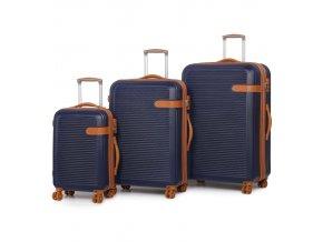 Sada cestovních kufrů ROCK TR-0159/3 ABS - modrá  + PowerBanka nebo pouzdro zdarma