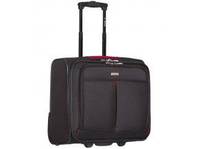 Kufr příruční na notebook Sirocco T-1103 - černá/červená  + PowerBanka nebo pouzdro zdarma