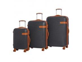 Sada cestovních kufrů ROCK TR-0159/3 ABS - charcoal  + PowerBanka nebo pouzdro zdarma