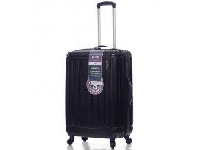Cestovní kufr CITIES T-105/3-M ABS - tmavě modrá  + PowerBanka nebo pouzdro zdarma