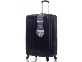 Cestovní kufr CITIES T-105/3-L ABS - tmavě modrá  + PowerBanka nebo pouzdro zdarma