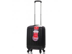 Kabinové zavazadlo CITIES T-105/3-S ABS - černá  + Pouzdro zdarma