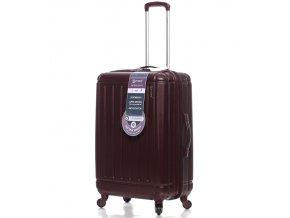 Cestovní kufr CITIES T-105/3-M ABS - vínová  + PowerBanka nebo pouzdro zdarma