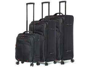 Sada cestovních kufrů AEROLITE T-9378/3 - černá  + PowerBanka nebo pouzdro zdarma