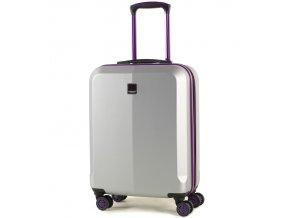 Kabinové zavazadlo MEMBER'S TR-0150/3-S ABS - stříbrná/fialová  + PowerBanka nebo pouzdro zdarma