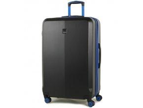 Cestovní kufr MEMBER'S TR-0150/3-L ABS - černá/modrá  + PowerBanka nebo pouzdro zdarma