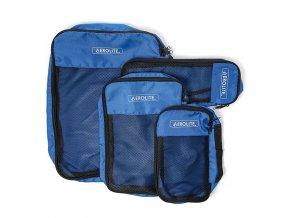 Sada cestovních organizérů AEROLITE PC001 - modrá