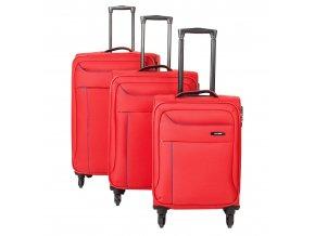 Travelite Solaris 4w S,M,L Red/blue – sada 3 kufrů + BB  + PowerBanka nebo pouzdro zdarma
