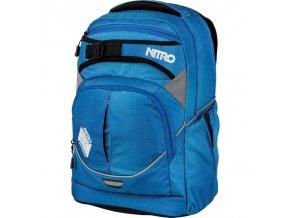 NITRO školní batoh SUPERHERO blur brilliant blue  + PowerBanka nebo pouzdro zdarma