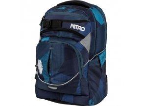 NITRO školní batoh SUPERHERO fragments blue