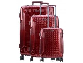 Titan Cody 4w S,M,L Bordeaux – sada 3 kufrů