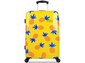 Cestovní kufr B.HPPY BH-1607/3-M - Home Sweet Pineapple  + PowerBanka nebo pouzdro zdarma