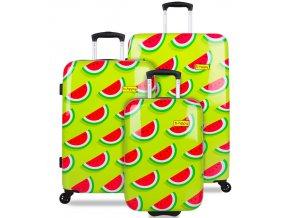 Sada cestovních kufrů B.HPPY BH-1606/3 - Two In A Melon  + PowerBanka nebo pouzdro zdarma